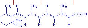 Ретинол  Химическая формула