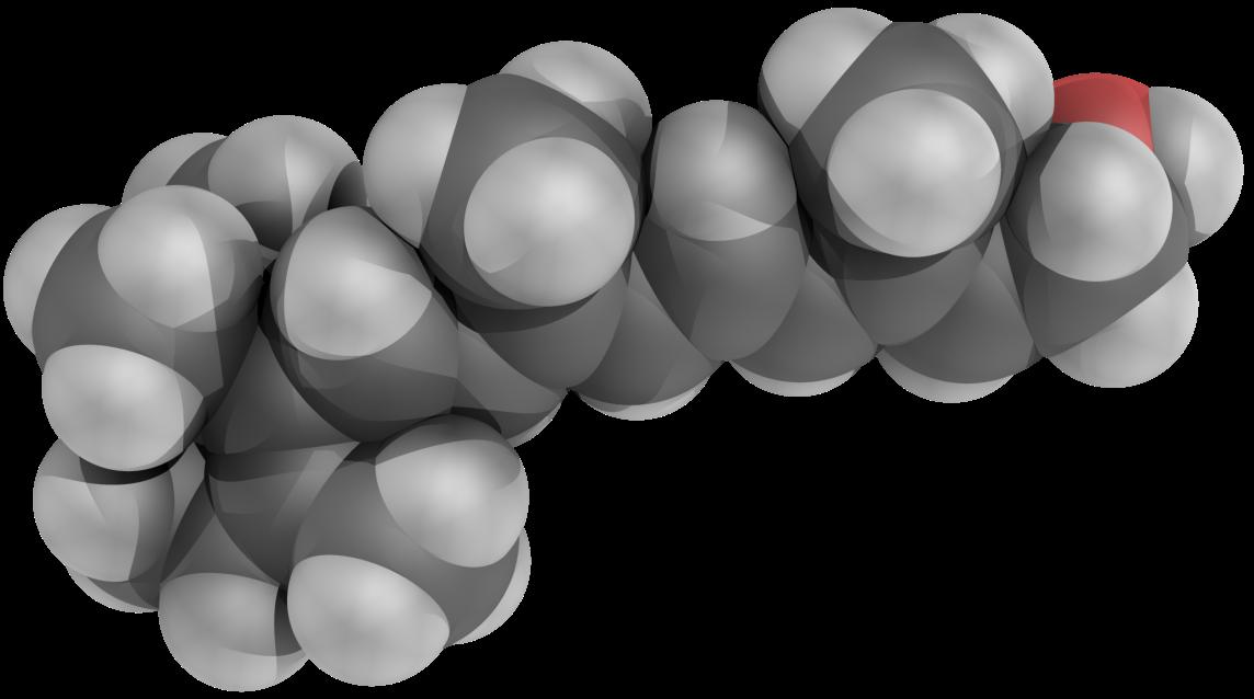 Трехмерная модель молекулы витамина А