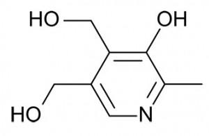 Структурная формула витамин B6 (Пиридоксин)