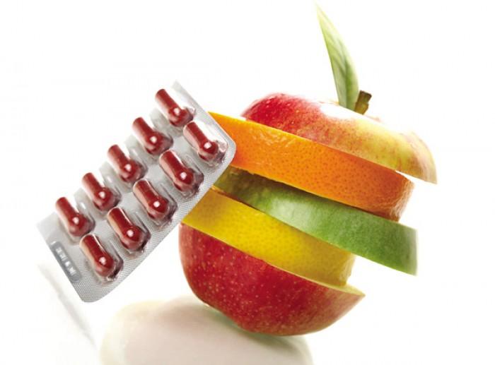 Витаминные препараты и продукты