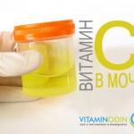 Анализ мочи на витамин С: избыточное и недостаточное содержание